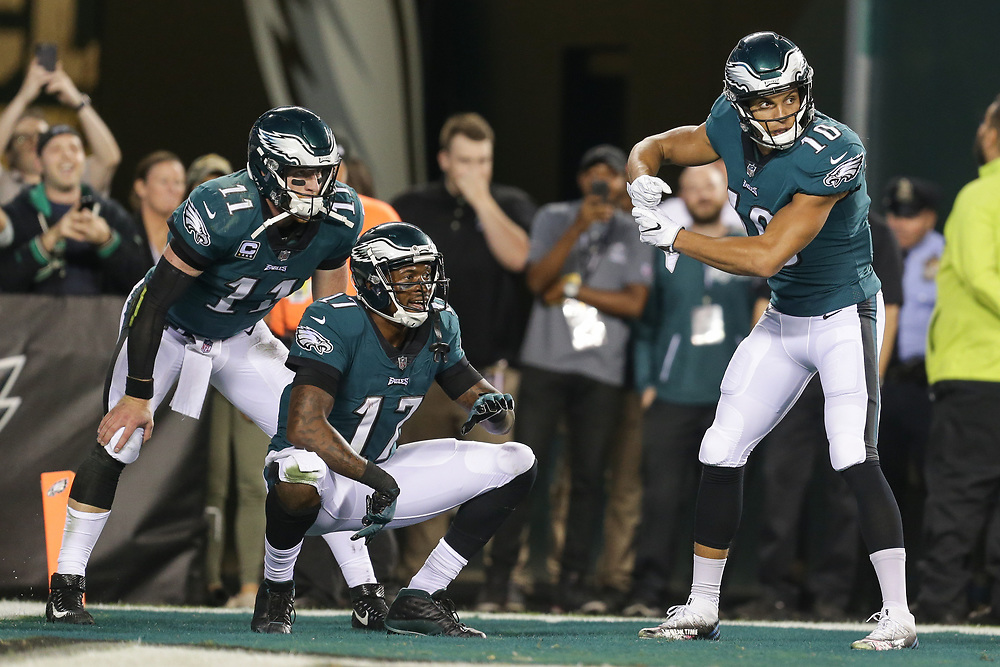 during the NFL game between the Washington Redskins and the Philadelphia Eagles at Lincoln Financial Field in Philadelphia, PA on Monday, October 23rd 2017. (Brian Garfinkel/Philadelphia Eagles)