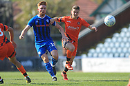 Callum Camps chases the ball during the EFL Sky Bet League 1 match between Rochdale and Wycombe Wanderers at Spotland, Rochdale, England on 19 April 2019.