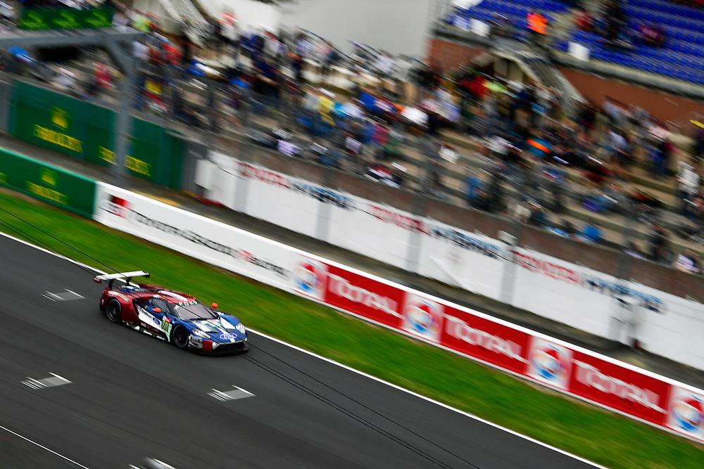#68 Ford Chip Ganassi Racing Ford GT: Joey Hand, Dirk Müller, Sébastien Bourdais<br /> Sunday 17 June 2018<br /> 24 Hours of Le Mans<br /> 2018 24 Hours of Le Mans<br /> Circuit de la Sarthe  FR<br /> World Copyright: Scott R LePage