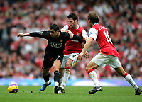 Photo: Tom Dulat/Sportsbeat Images.<br /> <br /> Arsenal v Manchester United. The FA Barclays Premiership. 03/11/2007.<br /> <br /> Cesc Fabregas of Arsenal and Cristiano Ronaldo of Manchester United in fight for the ball.