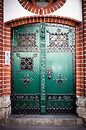 Door of a church in Moabit, Berlin, Germany