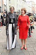 Prinses Margriet en Prinses Laurentien bij uitreiking ECF Princess Margriet Award for Culture 2017 in Paradiso, Amsterdam. ECF zet zich in voor cultuur in Europa. <br /> <br /> Princess Margriet and Princess Laurentien at the ECF Princess Margriet Award for Culture 2017 in Paradiso, Amsterdam. ECF is committed to culture in Europe.<br /> <br /> Op de foto / On the photo: <br /> <br />  Prinses Margriet en Prinses Laurentien  /  Princess Margriet and Princess Laurentien