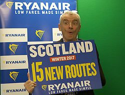 Michael O'Leary announces the introduction of 13 new Edinburgh routes and 2 new Glasgow routes. The routes will be introduced for winter 2017. However, O'Leary confirmed that the continuation of some of these routes would be conditional on the Scottish Government implementing the Air Passenger Duty reductions promised in the manifesto.