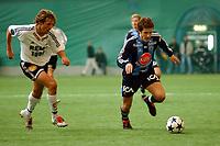 Treningskamp, Abrahallen, Trondheim, 13.03.04 <br />RBK – Djurgården 5-0, Vidar Riseth, Rosenborg, Tobias Hysén, Djurgården<br /><br />Foto: Carl-Erik Eriksson, Digitalsport