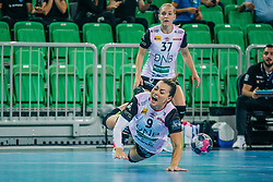 Nora Mørk and Jana Knedlikova of Norway during handball match between RK Krim Mercator (SLO) and Vipers Kristiansand (NOR), on September 12, 2020 in Arena Stožice, Ljubljana, Slovenia. Photo by Sinisa Kanizaj / Sportida