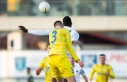 Damjan Vuklisevic of Domzale vs Mathias Pogba of Sezana, brother of Paul Pogba during football match between NK Domzale and NK CB24 Tabor Sezana in 22nd Round of Prva liga Telekom Slovenije 2020/21, on February 21, 2021 in Sports park Domzale, Slovenia. Photo by Vid Ponikvar / Sportida