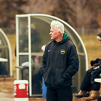 Women's Soccer Head Coach, Bob Maltman of the Regina Cougars during the Women's Soccer home game on Sat Oct 13 at U of R Field. Credit: Arthur Ward/Arthur Images