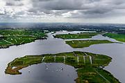 Nederland, Zuid-Holland, Gemeente Teylingen, 28-04-2017; Kagerplassen in stemmig voorjaarsweer. Veenplassen met kenmerkende eilanden.<br /> Peat lakes with characteristic islands in moody spring weather.<br /> luchtfoto (toeslag op standard tarieven);<br /> aerial photo (additional fee required);<br /> copyright foto/photo Siebe Swart