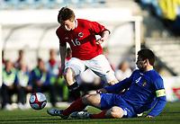 Fotball , 28. april 2011 , U19 , WC. qual.<br /> Norge - Moldova<br /> Norway -Moldova 4-0<br /> <br /> Yann-Erik de Lanlay (16)  , Norge<br /> Eugen Zhsavitchi , Moldova