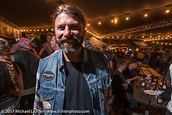 Roland Stocker of BMW at the Friday night pre-party at Cooks Corner before the start of the Born Free 9 Motorcycle Show. Costa Mesa, CA. USA. June 23, 2017. Photography ©2017 Michael Lichter.