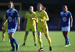 Chelsea's Karen Carney (centre) during the Women's Super League match at the Automated Technology Group Stadium, Solihull.
