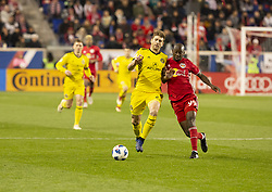 STYLEPREPENDBradley Wright_Phillips (99) of Red Bulls & Gaston Sauro (22) of Columbus Crew SC fight for ball during 2nd leg MLS Cup Eastern Conference semifinal game at Red Bul Arena Red Bulls won 3 - 0 agregate 3 - 1 and progessed to final (Credit Image: © Lev Radin/Pacific Press via ZUMA Wire)