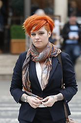 © Licensed to London News Pictures. 10/3/2017. London, UK. Food blogger Jack Monroe arrives at the High Court.  Jack Monroe is claiming libel damages after 'serious harm' was caused over tweets from the Daily Mail columnist. Photo credit: Peter Macdiarmid/LNP
