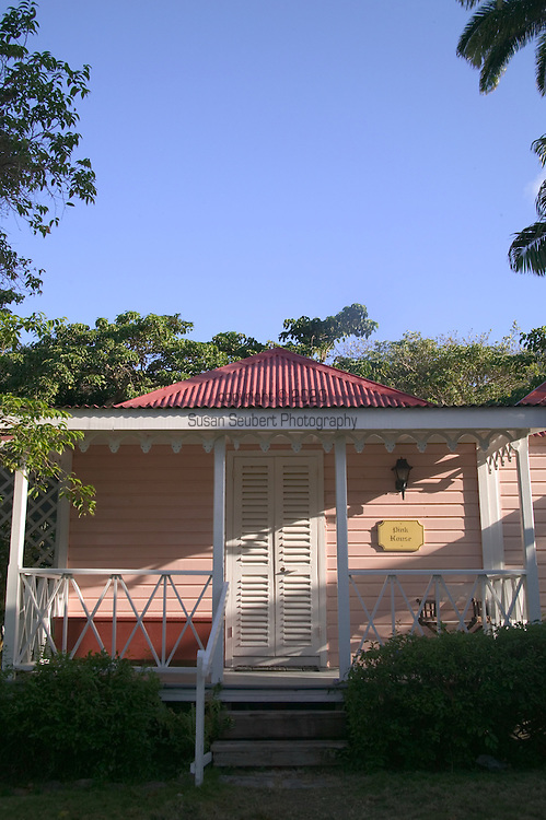 """The """"Pink House"""" Luxury Cottage at The Hermitage Plantation Inn, Nevis 4/05"""