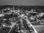 Goshen, New York - A view of the Village of Goshen at twilight on May 25, 2016.
