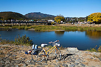 The Hozu River is a favorite spot in Kyoto for river boat rides and viewing the autumn foliage.  The Katsura River is a continuation of the Hozu River on the southern side of the bridge.