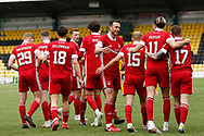 GOAL 0-2  Aberdeen's Ryan Hedges (11) scores a goal 0-2 and celebrates, celebration during the Scottish Premiership match between Livingston and Aberdeen at Tony Macaroni Arena, Livingstone, Scotland on 1 May 2021.
