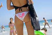 """Sexy attractive young people doing promotion of Pacha´s David Guetta F""""""""ck me Im famous party in Salinas beach, Ibiza, Spain - Photo by Nano Calvo"""