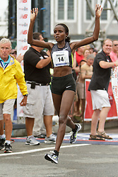 Falmouth Road Race, women's champion Margaret Wangaru