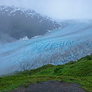A general overview of the Harding Icefield at the Kenai Fjords National Park in Seward, Alaska, on Thursday, August 4, 2016. (Alex Menendez via AP)