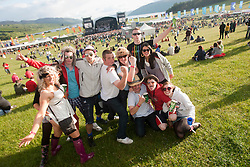 Fans at the main arean, Friday night..RockNess 2011, the annual music festival which takes place in Scotland at Clune Farm, Dores, on the banks of Loch Ness near Inverness..Pic ©2011 Michael Schofield. All Rights Reserved..