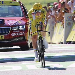 LIBOURNE (FRA) CYCLING: July 16<br /> 19th stage Tour de France Libourne- Saint-Émilion<br /> Tadej Pogacar