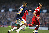 Jay Bothroyd of Cardiff City scores his goal. Coca cola championship, Cardiff City v Nottingham Forest at Ninian Park in Cardiff on Sat 31st Jan 2009..pic by Andrew Orchard, Andrew Orchard sports photography,