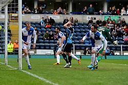Bristol Rovers' David Clarkson celebrates his goal. - Photo mandatory by-line: Dougie Allward/JMP - Mobile: 07966 386802 26/04/2014 - SPORT - FOOTBALL - High Wycombe - Adams Park - Wycombe Wanderers v Bristol Rovers - Sky Bet League Two