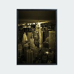 Manhattan # 02, New York • Original photographic work by Antoine Duhamel • Direct print on brushed brass.