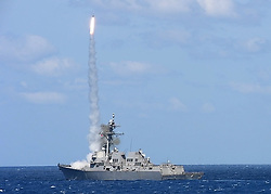 180413-N-NB178-1032 ATLANTIC OCEAN (April 13, 2018) The guided-missile destroyer USS Farragut (DDG 99) launches a Standard Missile (SM-2) during a missile exercise (MISSILEX). Farragut is underway for a scheduled deployment as part of the Harry S. Truman Carrier Strike Group. With USS Harry S. Truman (CVN 75) as the flagship, deploying strike group assets include staffs, ships, and aircraft of Carrier Strike Group EIGHT (CSG 8), Destroyer Squadron TWO EIGHT (DESRON 28) and Carrier Air Wing ONE (CVW-1); as well as Sachsen-class German Frigate FGS Hessen (F 221). (U.S. Navy photo by Mass Communication Specialist 2nd Class Tyrell K. Morris/Released)