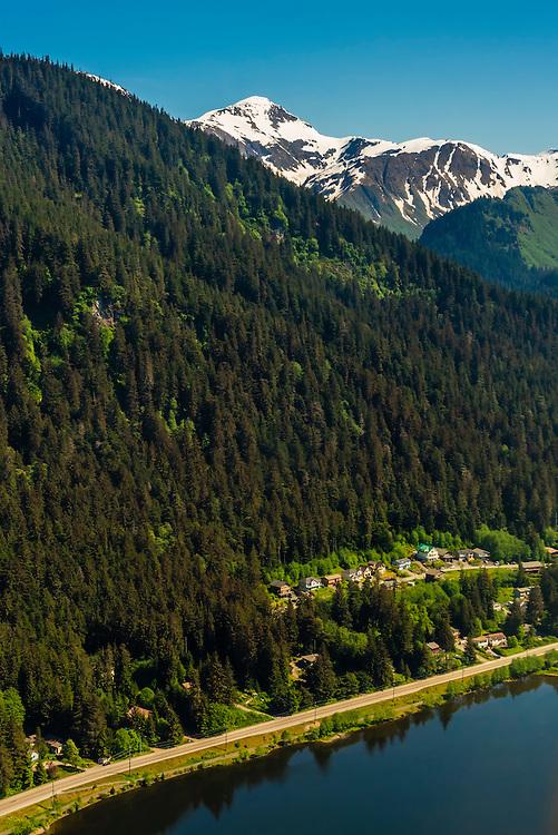 Aerial view near Juneau, Alaska USA.