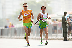 Blind Sandi Novak of Slovenia with guide Urban Jereb competes at Men's Marathon - T12 Final during Day 11 of the Rio 2016 Summer Paralympics Games on September 18, 2016 in Copacabana beach, Rio de Janeiro, Brazil. Photo by Vid Ponikvar / Sportida