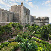 """A manicured garden outside of the old city walls in Dubrovnik, Croatia. <br /> <br /> Dubrovnik serves as the official setting of """"King's Landing"""" from the popular TV show """"Game of Thrones"""".<br /> <br /> LICENSING: This image can be licensed through SpacesImages. Click on the link below:<br /> <br /> http://tinyurl.com/bnhlqzt"""