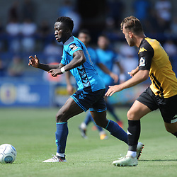 TELFORD COPYRIGHT MIKE SHERIDAN 4/8/2018 - Daniel Udoh on the ball during the National League North fixture between AFC Telford United and Southport FC.