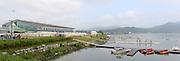 Chungju, South Korea. 2013 FISA World Rowing Championships, General Views of the  Tangeum Lake International Regatta Course. 08:37:12  Saturday  24/08/2013 [Mandatory Credit. Peter Spurrier/Intersport Images]