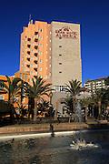 Gran Hotel Almeria in the city centre of Almeria, Spain from Parque de Nicolás Salmerón
