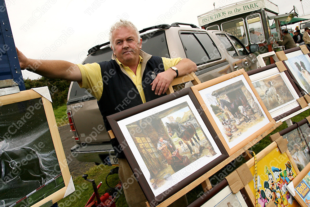 Gerry McGrath was busy selling his pictures at the Mullagh Show on Sunday.<br /><br />Photograph by Yvonne Vaughan.