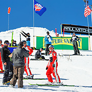 Kendl Richards (AUS) performs aerial acrobatics during the 2009 Sprint US Freestyle Championships held at the Utah Olympic Park in Park City on March 8, 2009.