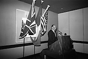 16/11/1966<br /> 11/16/1966<br /> 16 November 1966<br /> O'Brien Plastics Ltd., Bishopstown, Cork reception at the Intercontinental Hotel, Dublin to announce that Phillips Petroleum Company, Oklahoma U.S.A had acquired a 50% interest in O'Brien Plastics. Picture Shows Mr. William O'Brien addressing the reception.
