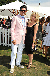 EDWARD TAYLOR and ANNABELLE WALLIS at the Cartier International Polo at Guards Polo Club, Windsor Great Park on 27th July 2008.<br /> <br /> NON EXCLUSIVE - WORLD RIGHTS