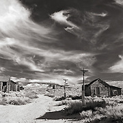 Summer afternoon at Bodie State Park and ghost town- California.