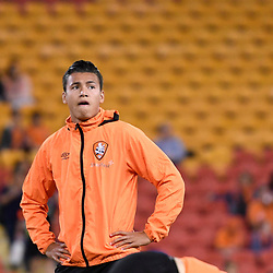 BRISBANE, AUSTRALIA - APRIL 21: Dane Ingham of the Roar looks on before the Hyundai A-League Elimination Final match between the Brisbane Roar and Western Sydney Wanderers at Suncorp Stadium on April 21, 2017 in Brisbane, Australia. (Photo by Patrick Kearney/Brisbane Roar)