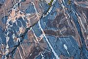 Detail of precambrian shield rock <br />Pisew Falls Provincial Park<br />Manitoba<br />Canada