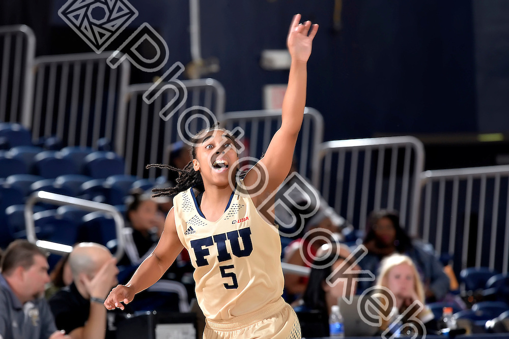 2016 February 27 - FIU's Taylor Shade (5). <br /> Florida International University fell to Florida Atlantic University, 52-63, at Lime Court, in the FIU Arena, Miami, Florida. (Photo by: Alex J. Hernandez / photobokeh.com) This image is copyright by PhotoBokeh.com and may not be reproduced or retransmitted without express written consent of PhotoBokeh.com. ©2016 PhotoBokeh.com - All Rights Reserved