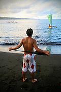 Outriggger canoes, Hilo, Island of Hawaii