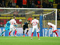 Football - 2016 / 2017 UEFA Champions League - Group E: Tottenham Hotspur vs. AS Monaco<br /> <br /> Djibril Sidibe of Monaco scores his team's first goal at the Stade Louis II in Monaco<br /> <br /> colorsport/winston bynorth