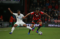 Football - 2016 / 2017 Premier League - AFC Bournemouth vs. Swansea City<br /> <br /> Bournemouth's Joshua King and Wayne Routledge of Swansea City in action at the Vitality Stadium (Dean Court) Bournemouth<br /> <br /> COLORSPORT/SHAUN BOGGUST