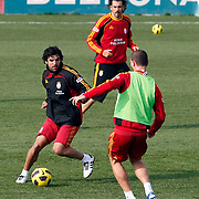 Galatasaray's players Juan Emmanuel CULIO (L) during their training session at the Jupp Derwall training center, Thursday, January 13, 2010. Photo by TURKPIX