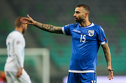 Fotis Papoulis of Cyprus during football match between National Teams of Slovenia and Cyprus in Final Tournament of UEFA Nations League 2019, on October 16, 2018 in SRC Stozice, Ljubljana, Slovenia. Photo by  Morgan Kristan / Sportida
