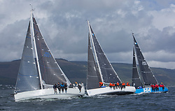 Pelle P Kip Regatta 2017 run by Royal Western Yacht Club at Kip Marina on the Clyde. <br /> <br /> RC35 Class, IRL 3307, Jacob, John Stamp, Corby 33<br /> <br /> Image Credit Marc Turner